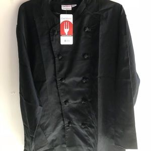 Jackets & Blazers - NWT chef works cooking button jacket coat size xl